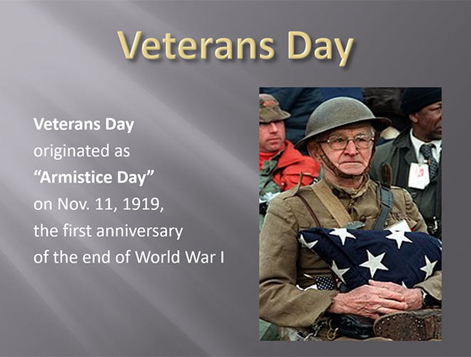 Veterans Day Origins
