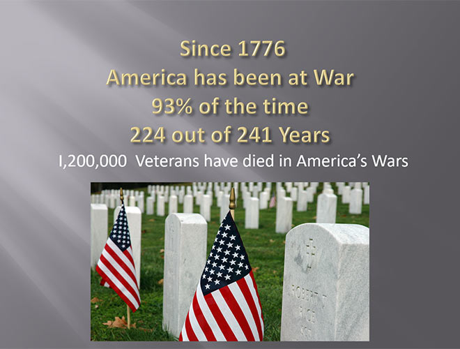 1,200,000 Veterans have died in America's Wars