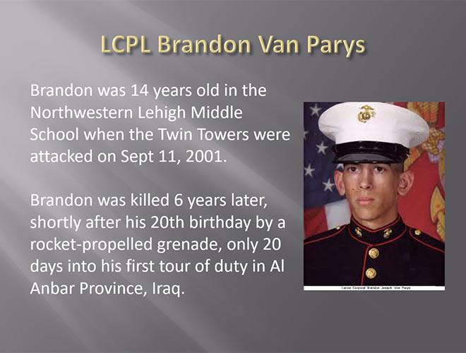 LCPL Brandon Van Parys