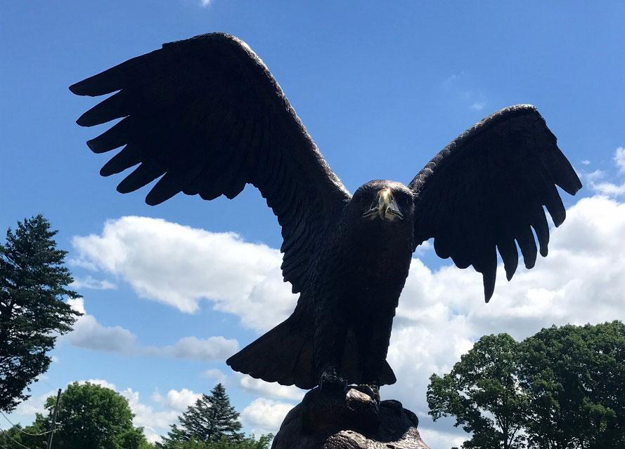 Close Up Image of Bronze Eagle Statue