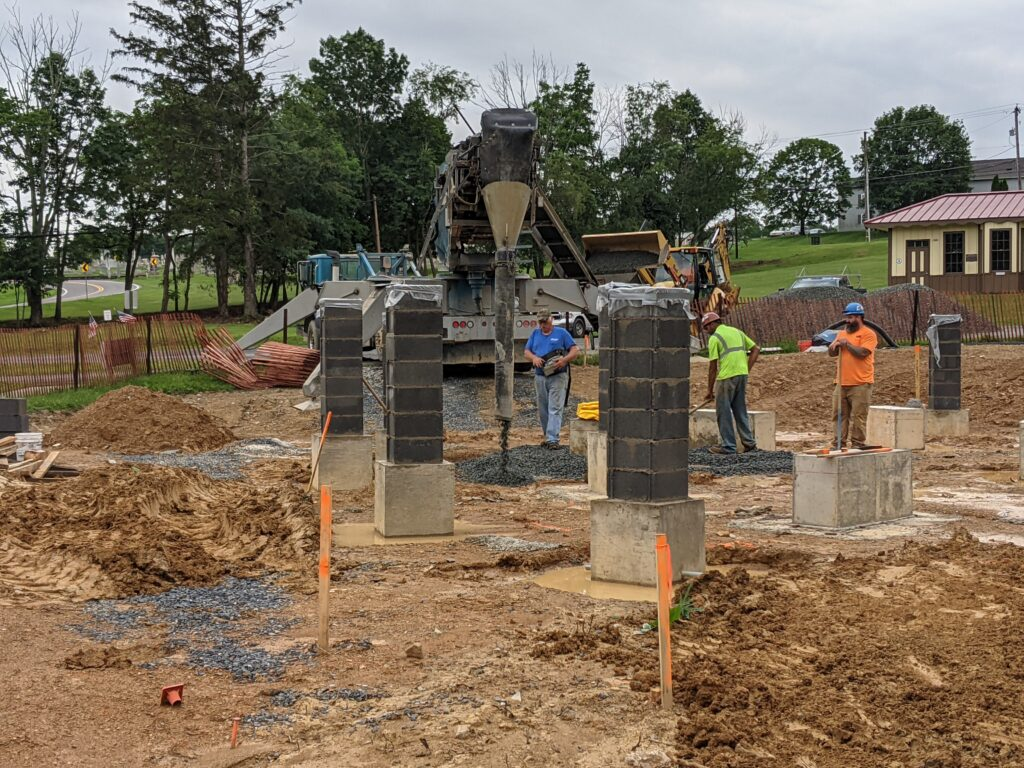Workers Building the Memorial